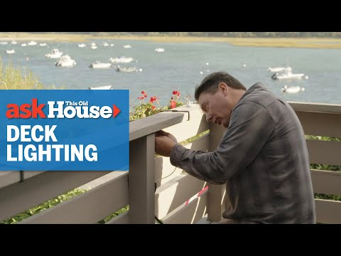 How to Install Deck Rail Lighting | Ask This Old House